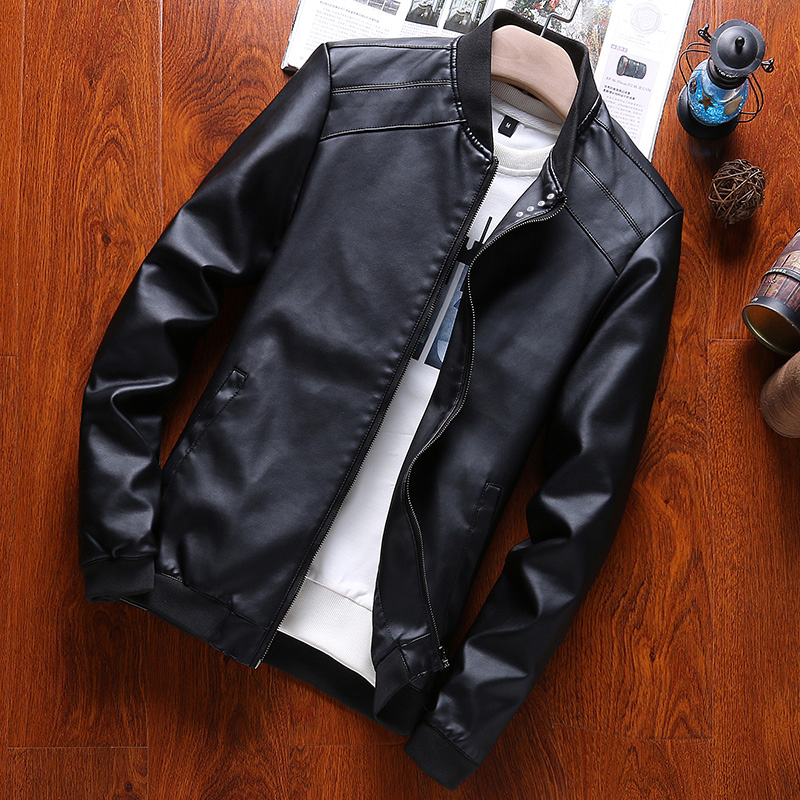 Motorcycle Leather Jacket Men Brand Coats High Quality Outerwear Jacket Business Slim Fit Male Leather Jacket Chaqueta Hombre