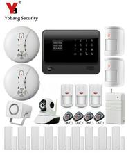 Yobang Security 2.4G WiFi GSM GPRS SMS Wireless Home Security Intruder Alarm System Wifi IP Camera Smoke Detector