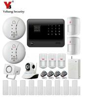DHLfreeshipping 2016 2 4G WiFi GSM GPRS SMS Wireless Home Security Intruder Alarm System Wifi IP