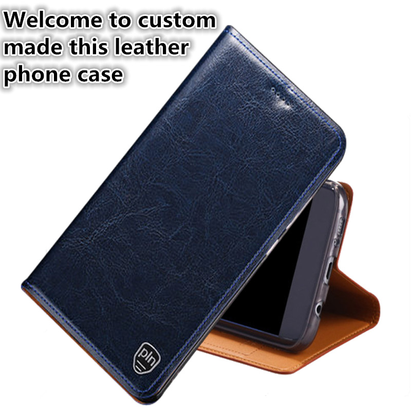 NC03 Genuine leather flip cover with kickstand for HTC U Play(5.2') flip case for HTC U Play phone case with card slot