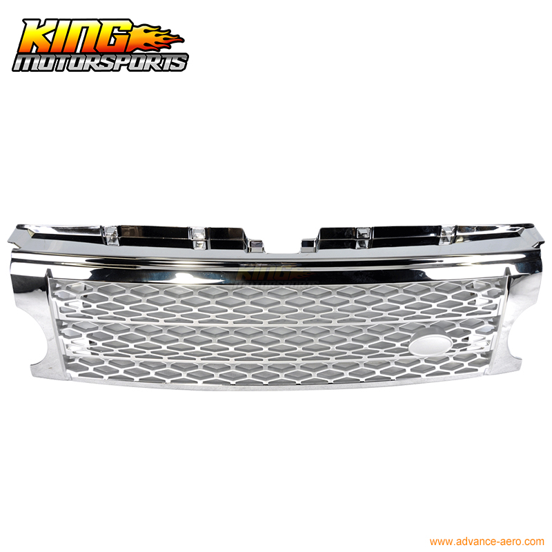 For 05 09 Land Rover Discovery 3 Chrome Silver Grille Grill LR3 2006 2007 2008 USA Domestic Free Shipping