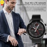 Спортивные для мужчин часы Smart Bluetooth 4,0 Smartwatch телефон SIM 4 г Wi Fi часы сердечного ритма мониторы шагомер для IOS наручные часы для Android