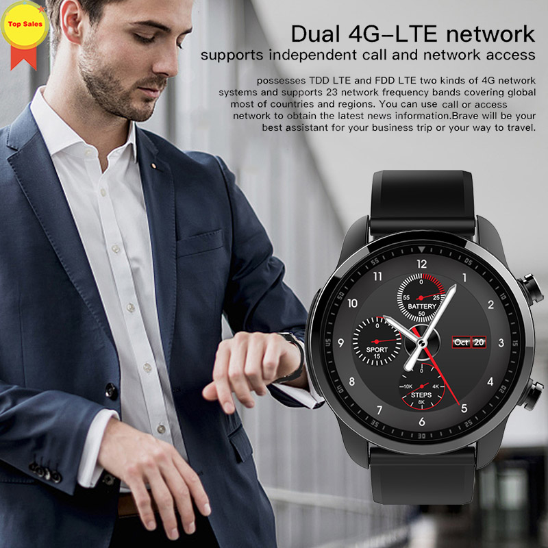 Spor erkek Izle Akıllı Bluetooth 4.0 akıllı saat telefon SIM 4G Wifi Saatler nabız monitörü Pedometre IOS android Için Kol Saati