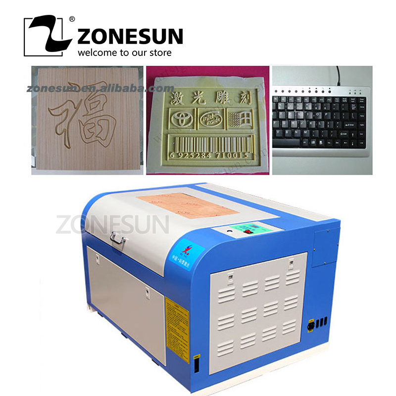 ZONESUN 110/220V 80W 400*600mm Mini CO2 <font><b>Laser</b></font> Engraver Engraving Cutting Machine <font><b>4060</b></font> <font><b>Laser</b></font> With USB Support Logo Machine image
