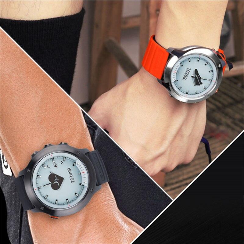 Hommes femmes horloge de luxe haut tendance sport montre intelligente M5 écran Transparent étanche moniteur de taux en acier inoxydable cadre