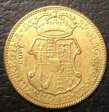 1689 Inglaterra 1 Guiné-William & Mary. 9999 puro Banhado A Ouro Copiar Coin(China)