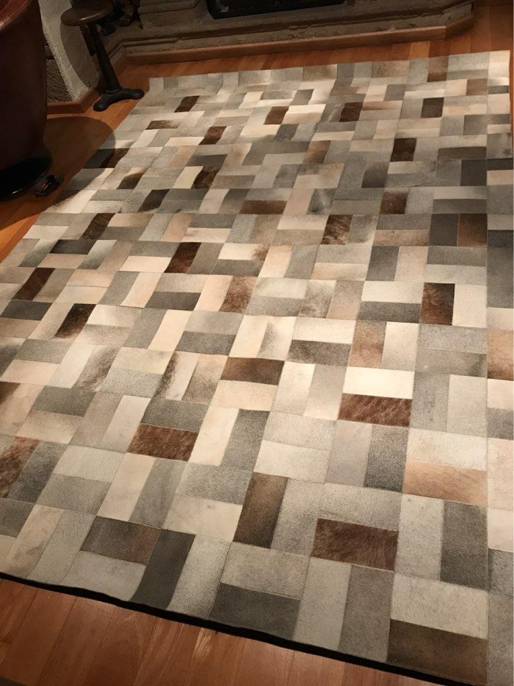 Europe Style Natural Gray Cow Hair Cowhide Carpet Modern