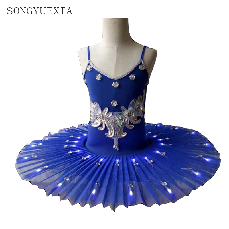 8d602fd3a Women s Professional Ballet Skirt Kids  Swan Ballet LED Illuminate ...