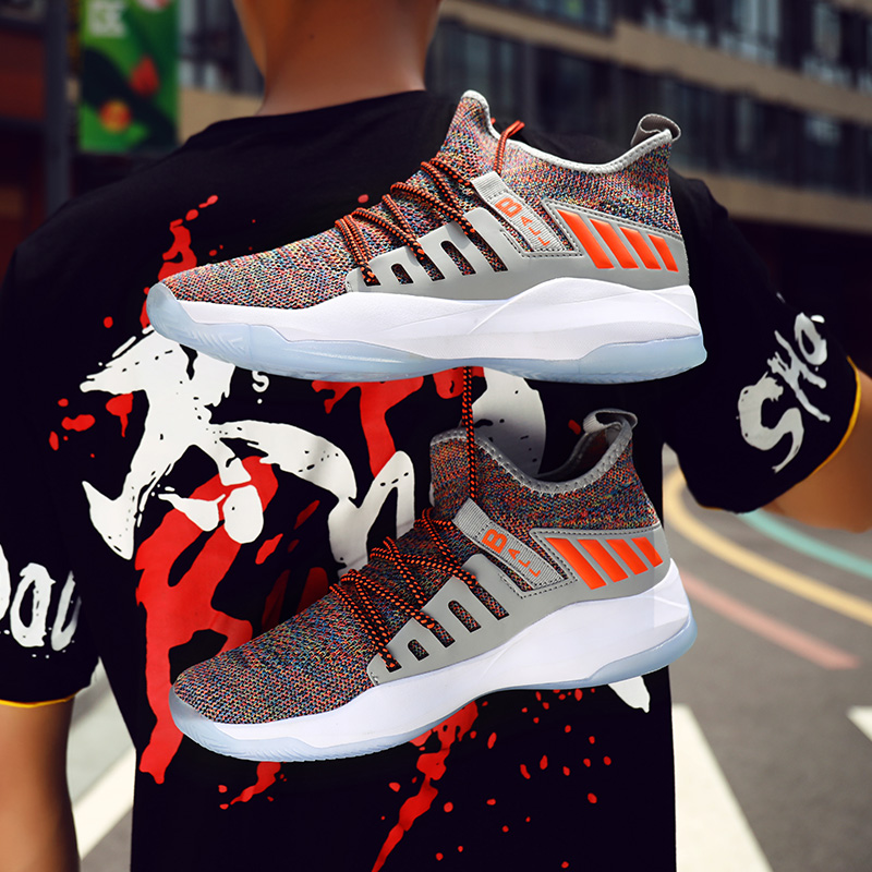 Basketball Shoes Men Sports Breathable Sneakers Athletic Fashion Casual Shoes Comfortable Gym Training Outdoor Cushion Sneakers in Basketball Shoes from Sports Entertainment