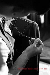 Image 3 - Nouveauté garçons dhonneur personnaliser fait fête de bal palais marié Tuxedos hommes costumes rose mode mariage meilleur homme (veste + pantalon + cravate)