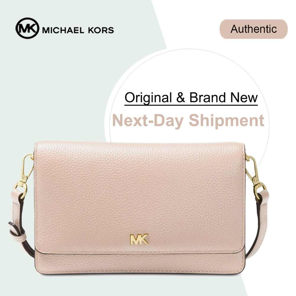 Michael Kors Pebble Leather Phone Crossbody Wallet Luxury Handbags For  Women Bags Designer by MK