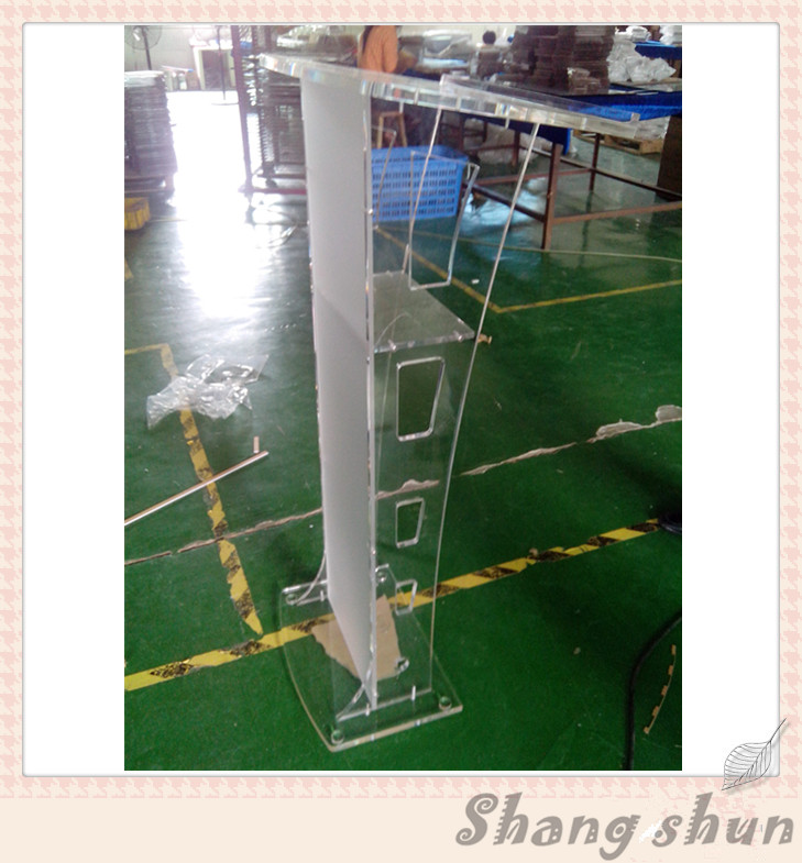 Acrylic Clear Lecture Table And Pulpit Clear Custom Acrylic Church Podium/Pulpit For Sale Clear Acrylic Church Podium