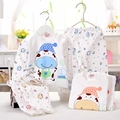 (2pcs/set)Newborn Baby 0-6M Clothing Set Brand  Boy/Girl Clothes set 100% Cotton Cartoon Underwear baby coat pans