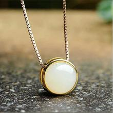 Everoyal Charm Crystal Round Pendant Necklace For Women Jewelry New Fashion Lady Silver 925 Box Girls Accessories