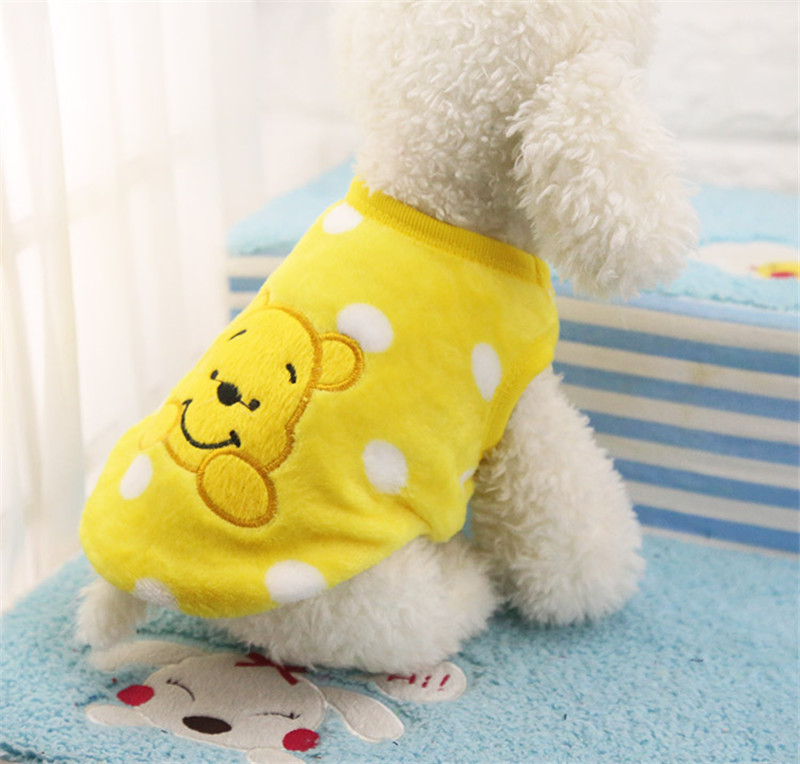 Winter Dog Jacket in Cartoon Printed Design to Protect Dogs from Cold 10