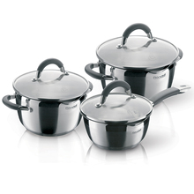 Набор посуды Rondell Flamme 6 предметов RDS-341 (Нержавеющая сталь, подходит для всех типов плит, подходит для посудомоечной машины)