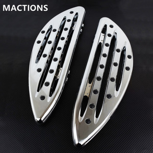 Image 1 - Chrome Front Driver Floorboards Foot Pegs Stretched Pedal For Harley Touring Road King Glide Softail Dyna Street FLH FLST FLD