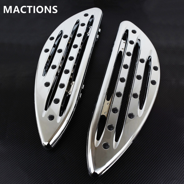 Chrome Front Driver Floorboards Foot Pegs Stretched Pedal For Harley Touring Road King Glide Softail Dyna Street FLH FLST FLD