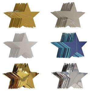 Image 5 - 4M lumineux or argent papier guirlande étoile chaîne bannières bannière de mariage pour fête maison tenture murale décoration bébé douche faveurs