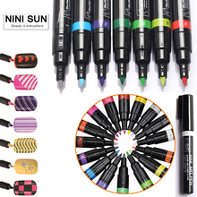 Nail art pens online shopping the world largest nail art pens 16 colors nail art pen for 3d nail art diy decoration nail polish pen uv gel prinsesfo Gallery