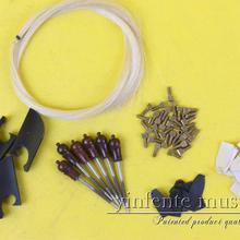 01 белый конский волос Скрипки лук части, 1 комплект baroqu Высший сорт Скрипки Лук Ebony Лягушка сильная лошадь
