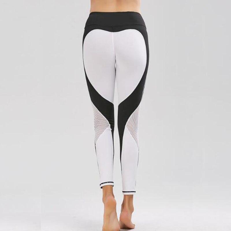 White Heart pattern legging harajuku athleisure fitness clothing sportswear elastic push up leggings women pants