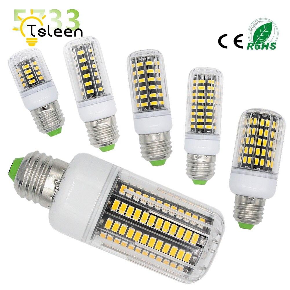 10PCS Corn Bulb Light E27 E14 7W 9W 12W 15W No Flicker 360 degrees for Pendant Light Source AC110V 220V 5733 SMD lamp