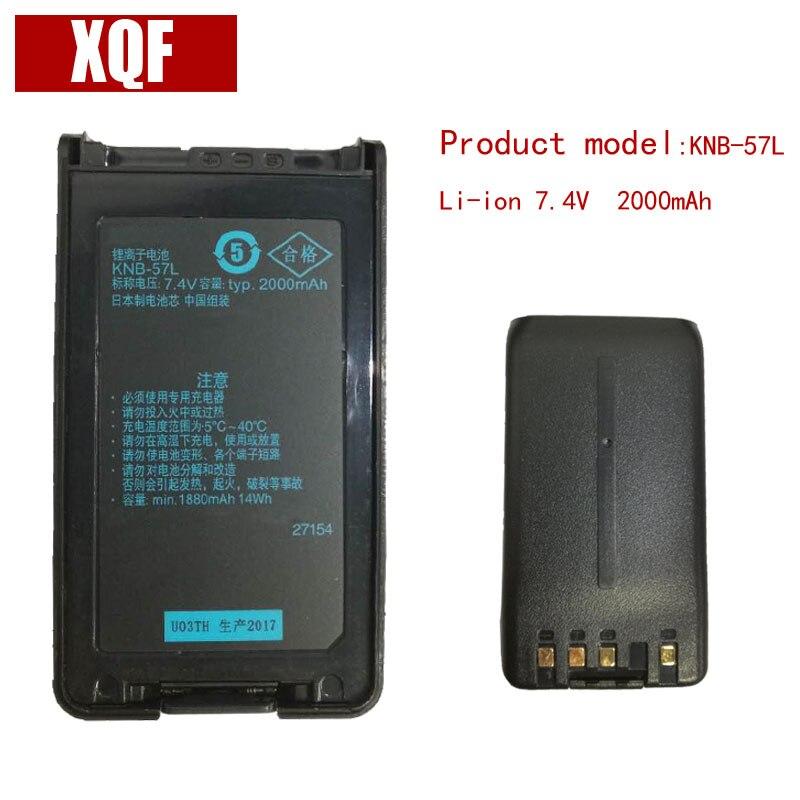 2000 mAh 7.4 V Li-Ion Batteria per KENWOOD Radio TK-2140 KNB-24 KNB-57L TK-3140 TK-2160 TK-3160 Walkie Talkie