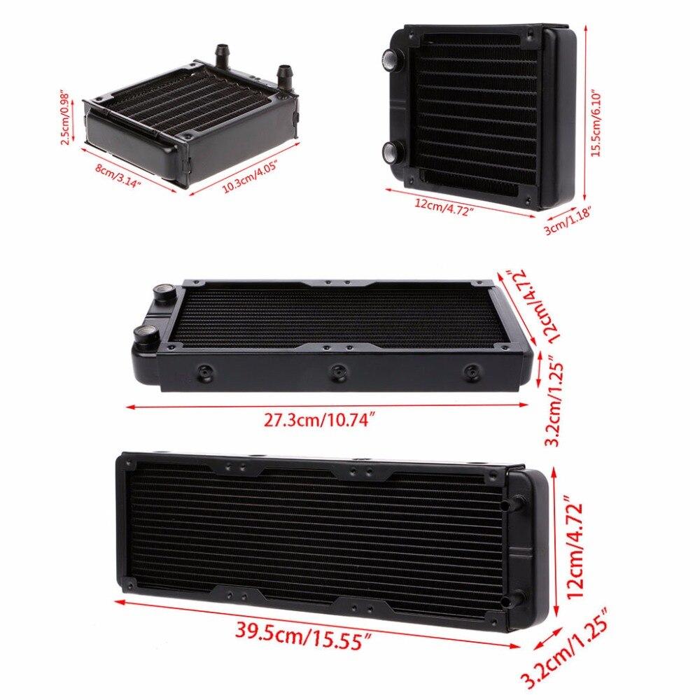 1 Pc 80/120/240/360mm Aluminium Computer Kühler Wasser Kühler Kühlung Für CPU GPU VGA RAM Kühlkörper Tauscher flüssigkeit Kühler