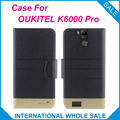 Hot! 2017 OUKITEL K6000 Pro Case New Arrival 5 Colors Factory Direct Flip Leather Exclusive Case For K6000 Pro OUKITEL Cover