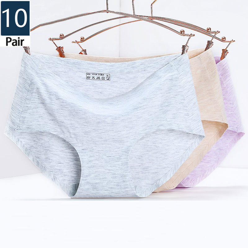 10 Pcs/seamless women's cotton   panties   fashionable sexy briefs women's pants mini girl underpants hot sale underwear wholesale