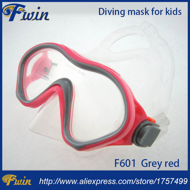 Swimming Swim Gear Scuba tempered glass silicone kids junior diving mask free shipment ...