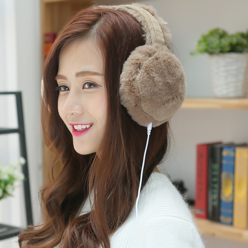 New Fashion Music Earmuffs Men Ear Muffs Women Winter Earmuffs Ear Warmer Faux Rabbit Fur Ear Muffs Winter Accessories For Women