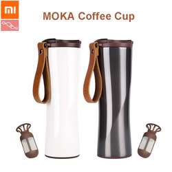 Xiaomi KissKissFish MOKA Smart Kaffee Tasse Reise Becher Edelstahl mit OLED Touchscreen Temperatur Display 430ml Tragbare