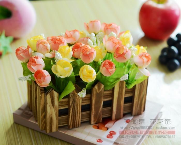artificial flowers wholesale silk flower corsage shelf rack suit pastoral sweet floral decoration fence