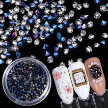 Nail Zircon Diamond Jewelry Popular 7 Color DIY European and American Trend Mix Fine Drill