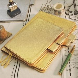Image 3 - A5 A6 Parel licht PU leer losbladige notebooks cover hand reizen rekening cover DIY Planner Organizer hobo boek shell escolar