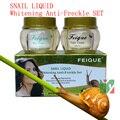 Nueva FEIQUE líquido caracol blanqueamiento crema anti de la peca 20g + 20g 12 set/lote cuidado de la cara