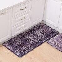 Welcome Vintage Country Style Kitchen Rug Runner Soft Floor Carpet Bath Entrance Door Mat