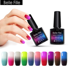 BELLE FILLE 10ml Thermal Temperature Gel Nail Polish Neon Color Change UV Gel Varnishes Lacquer Home