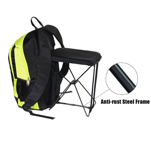 Folding Chair Nylon Milk Jug Adirondack Chairs Outdoor Hiking Fishing 47l Camping Travel Backpack With Stool Combo Gear Bagpack New
