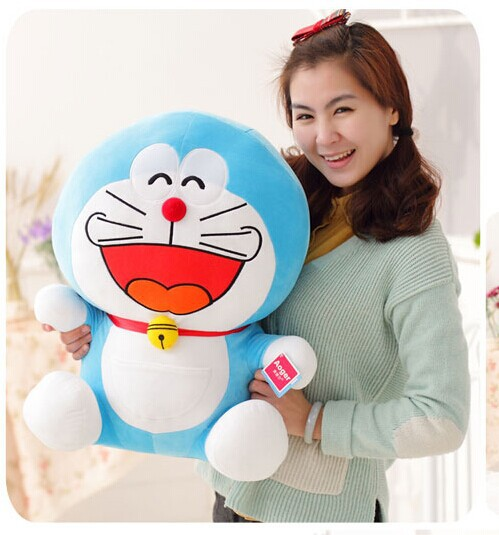 huge 65 cm laugh a hearty laugh expression Doraemon plush toy doll throw pillow Christmas gift w5792 4pcs lot loz christmas gifts doraemon
