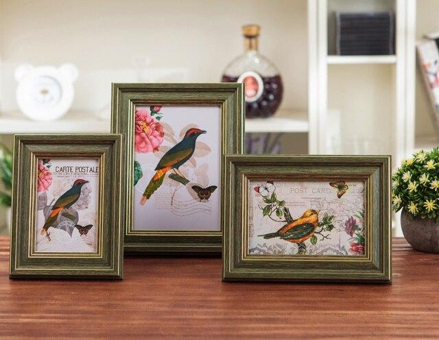גדול אמריקאי סגנון creative 4 אינץ 10 אינץ תמונה מסגרת תמונה מסגרת שולחן למעלה תליית קיר ילדי של תמונה מסגרת 3 צבעים