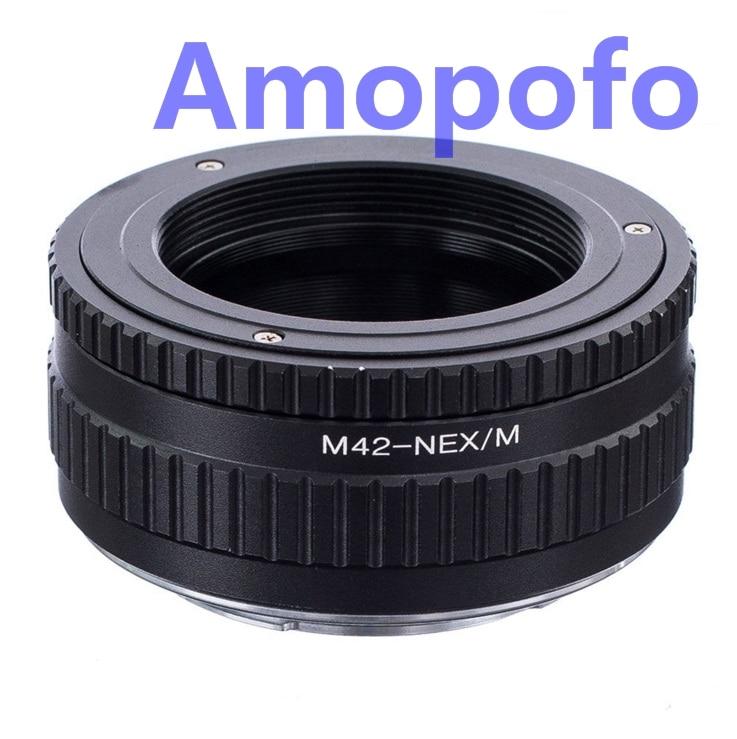 Amopofo M42-NEX/M adaptateur M42 monture à vis adaptateur de montage SonyE NEX Macro mise au point hélicoïdal NEX-3, NEX-5, A5000, A6000, A