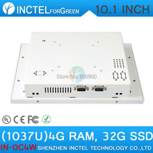 White Color 1037u processor Windows linux Industrial Touch Screen all in one pc,business desktop computer 4G RAM 32G SSD