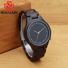 SIHAIXIN Qersonalized Women's Wood Watch With Retro Vintage Relogio Clock Woman Wooden Quartz Wristwatches Gift OEM Dropshipping