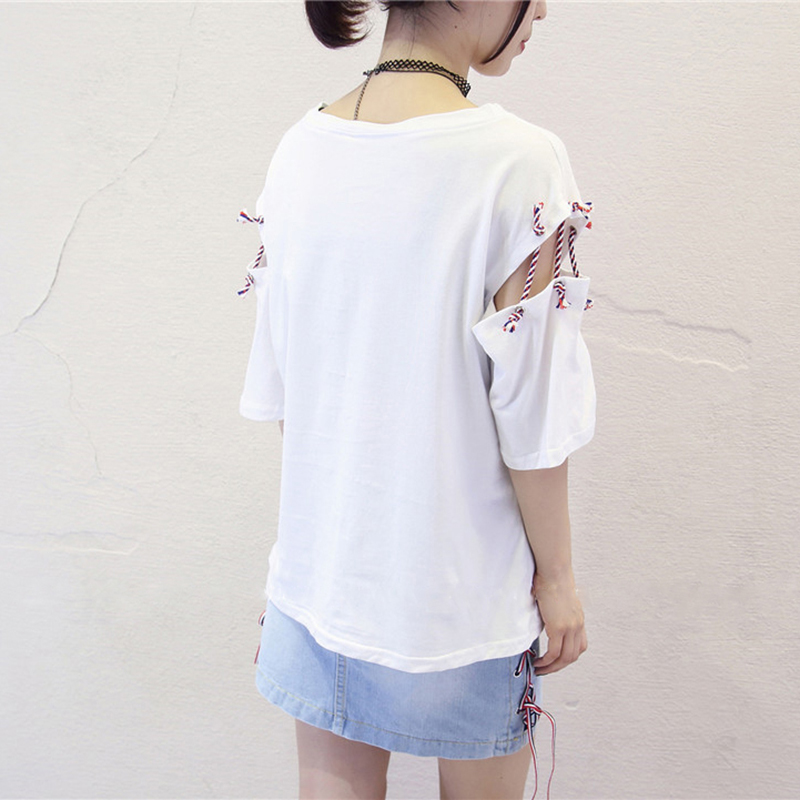 Aesthetic Korean Clothes Catton Plus Size Kawaii T Shirt Ropa