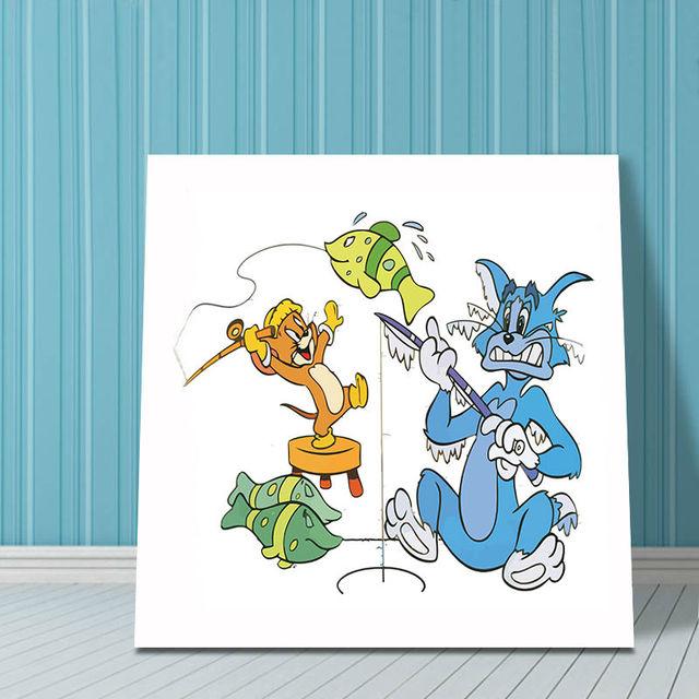 Lukisan Digital Diy Lukisan Kartun Kucing Dan Tikus Tom Dan Jerry