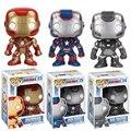 Funko POP homem de ferro Marvel ação figura bonito ver. Homem de ferro filme coleção de brinquedos para crianças de 3 cores # F