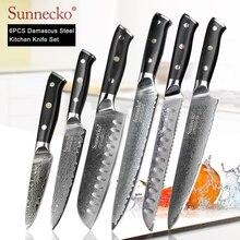 SUNNECKO Premium Chef Messer Japanischen Küche Messer Sharp Utility Santoku Slicing Schäl Cleaver Damaskus Cut Messer G10 Griff